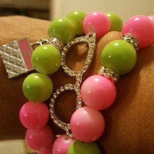 Green Pink Bracelets