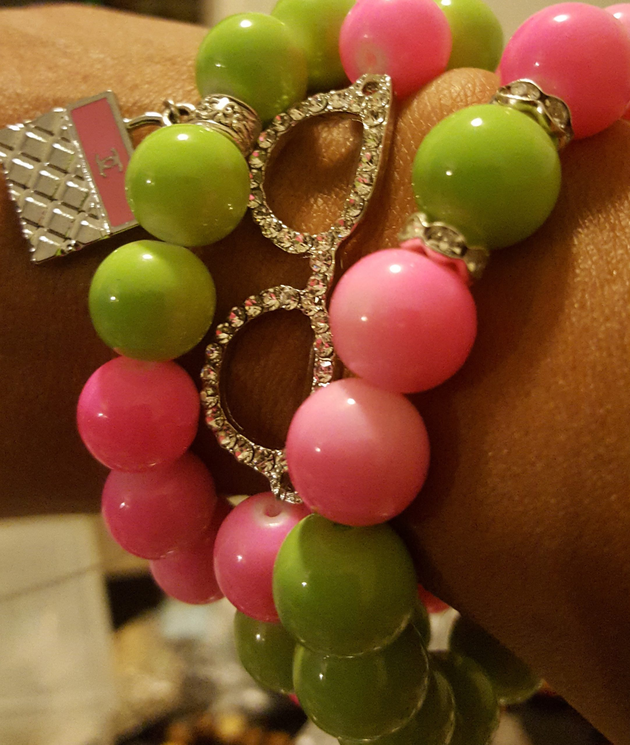 Green & Pink Bracelet