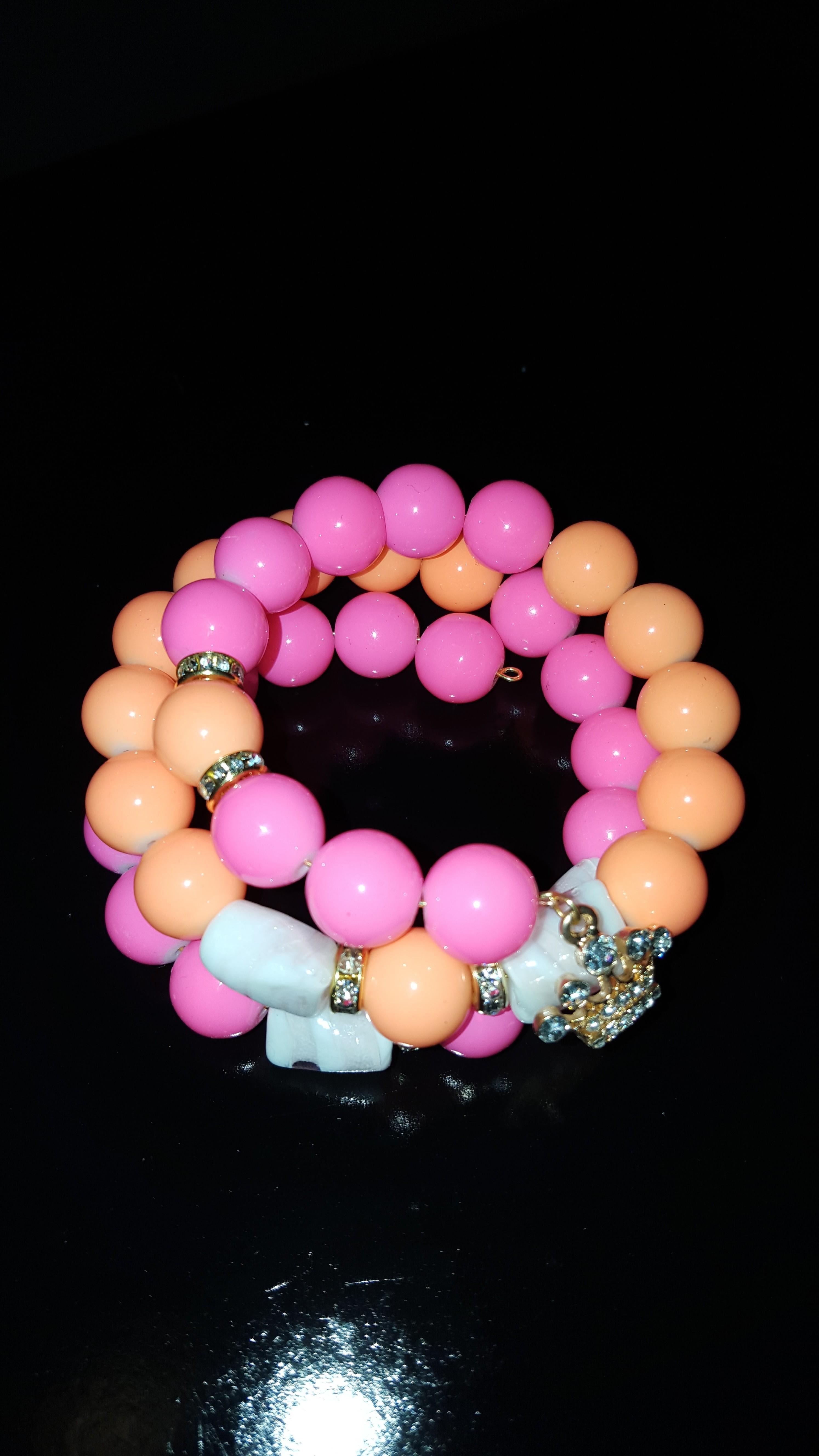 pink/ orange bracelet