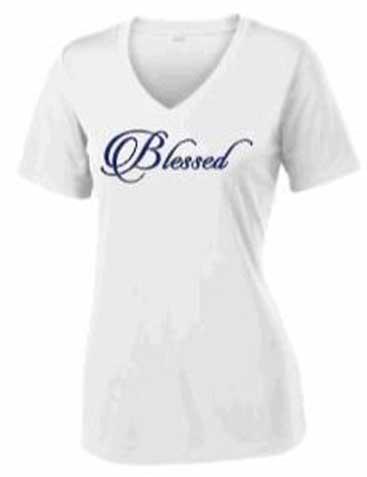 blessed white tshirt mockup